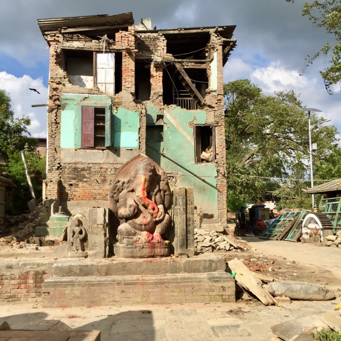 2015 earthquake traces – 10/2017, Panauti, Nepal